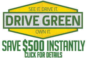 Save BIG during the Drive Green Sales Event
