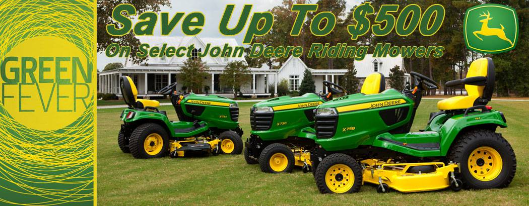 Save up to $500 on John Deere Riding Lawn Mowers