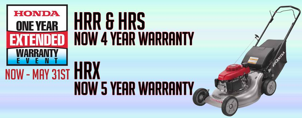 Honda Extended Warranty promotion at Mutton Power Equipment