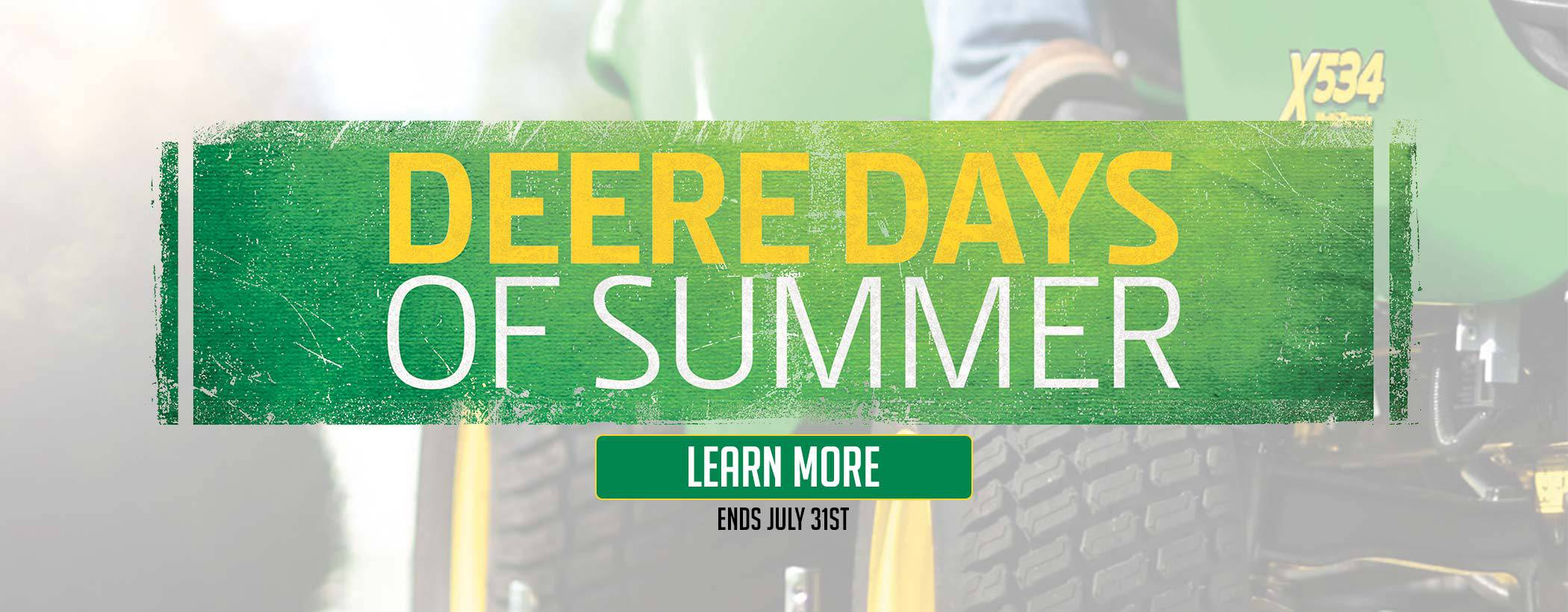 Deere Days of Summer at Mutton Power Equipment