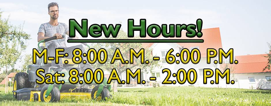 New Hours at Mutton Power Equipment