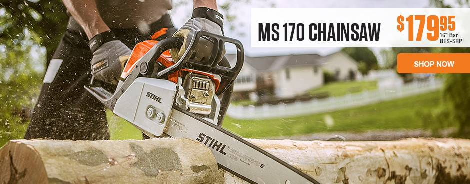 Check out the STIHL MS170 Chainsaw at Mutton Power Equipment