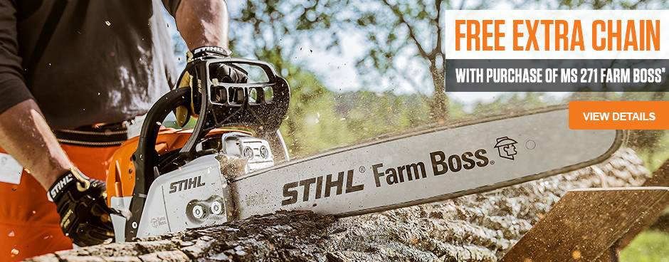 Purchase the STIHL MS271 Blower and receive a free chain at Mutton Power Equipment