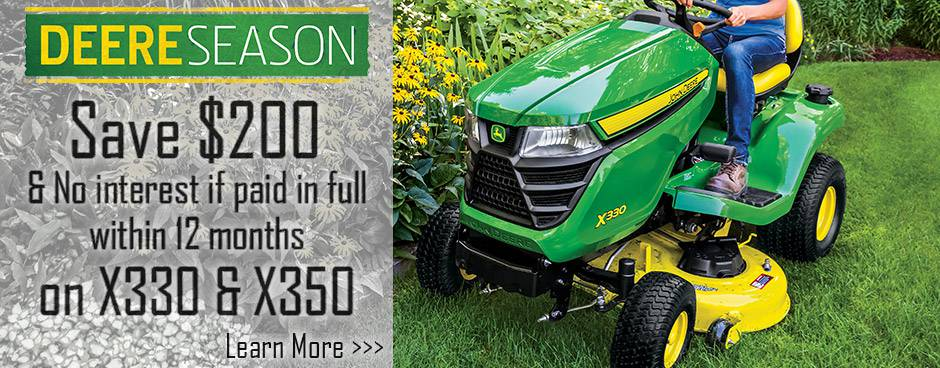 Shop Deere Season Lawn Tractor Promotions at Mutton Power Equipment