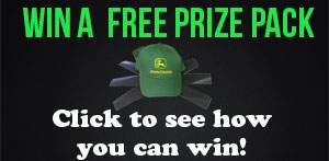 Win a free john deere hat and lawn mower blade sharpening