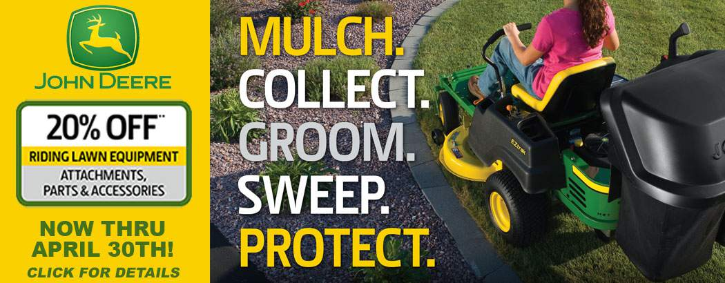Save 20% on John Deere Lawn Mower Attachments and Accessories for a Limited Time!