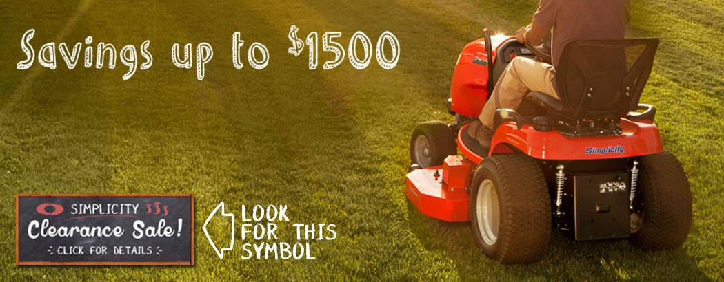 Simplicity Lawn Mower Clearance Sale going on Now