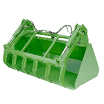 Grapple Bucket Loader Attachments for John Deere Tractors