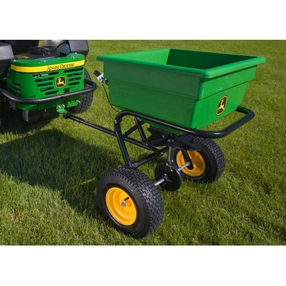 John Deere 125 lb. Pull-Type Spin Spreader for sale by Mutton Power Equipment