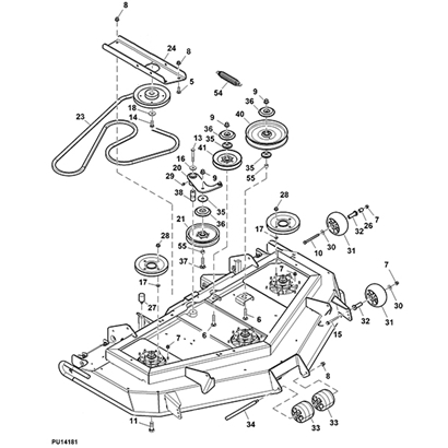 john deere 997 mid mount ztrak 60 rear discharge mower deck parts diagram 14579 john deere 997 z trak mower parts john deere m665 parts diagram at fashall.co