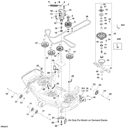 john deere z800a series professional ztrak 54 mower deck parts diagram 14587 john deere z830a z trak mower parts john deere m655 parts diagram at aneh.co