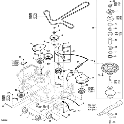 john deere z915b z915e commercial mower deck parts diagram 14590 john deere z915b z trak mower parts john deere m655 parts diagram at aneh.co