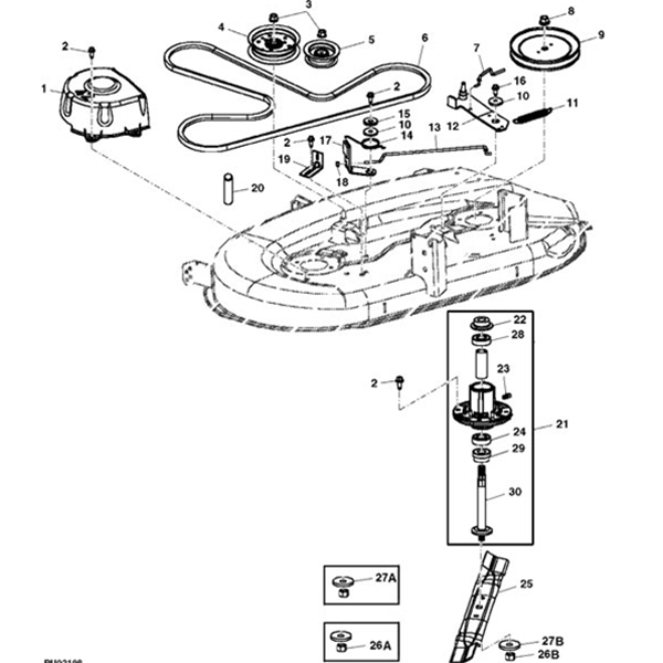 P 13173 John Deere 42 102 105 115 125 135 Deck Parts Diagram likewise 42 Mower Deck Housing Arbors Blades Group 987322 also Handle Assembly moreover 754 0467 954 0467a Belt Mtd Craftsman White Troybilt likewise Snapper Series 23 Wiring Diagram. on briggs and stratton riding lawn mower
