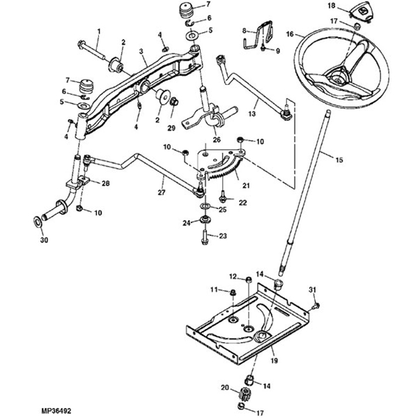 john deere 100la100 series steering parts diagram 13052 john deere la150 lawn tractor parts john deere m665 parts diagram at fashall.co