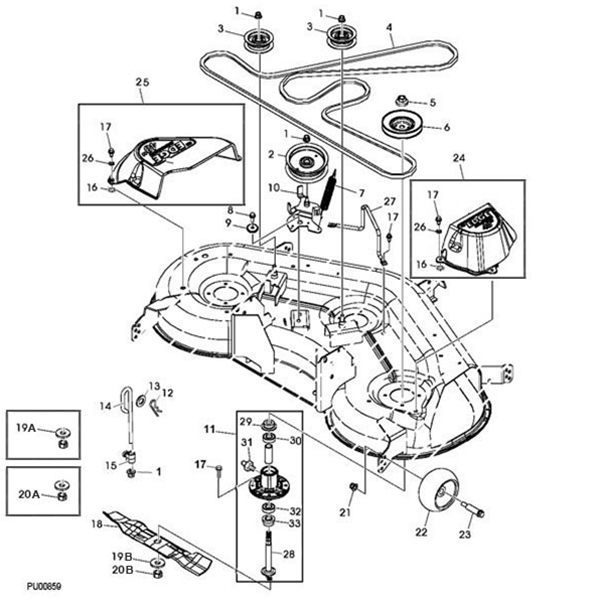 P 13203 John Deere 48 145 155c Deck Parts Diagram