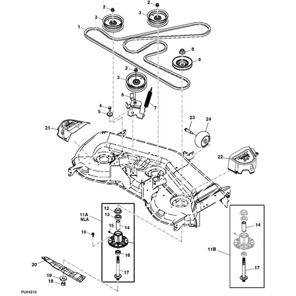 john deere 54 la150 190c g110 deck parts diagram 13206 john deere la150 lawn tractor parts john deere m655 parts diagram at aneh.co