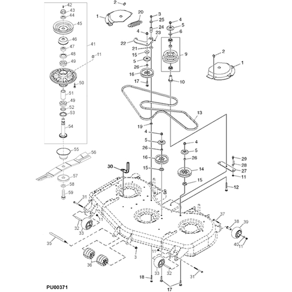 john deere 757 777 60 mulch on demand mower deck parts diagram 14611 john deere 777 z trak mower parts