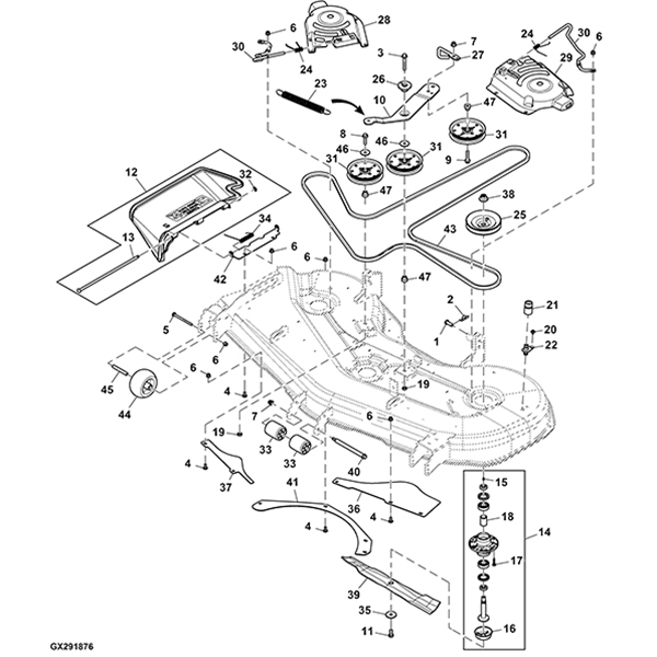 John Deere Z535mz540m 62 Mower Deck Parts Diagram: John Deere G100 Engine Diagram At Submiturlfor.com