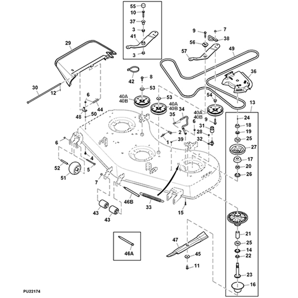John Deere Z540r 60 U0026quot  Mower Deck Parts Diagram