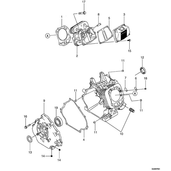 Kawasaki Parts Diagram