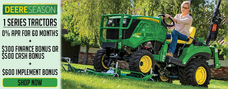 Shop Deere Season Compact Tractor Promotions at Mutton Power Equipment