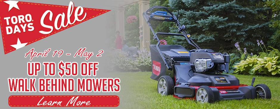 Toro Days Sale at Mutton Power Equipment
