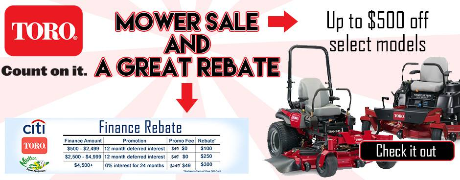 Check out Toro Sale at Mutton Power Equipment