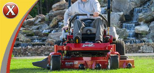 Exmark Commercial and Residential Walk Behind, Stand On and Zero Turn Lawn Mowers for Sale