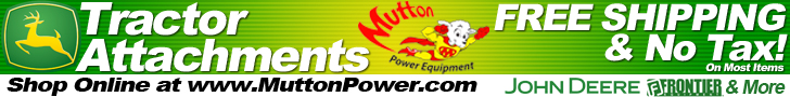 Buy Tractor Attachments and Implements for your John Deere Tractors online at Mutton Power Equipment