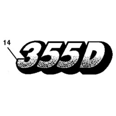 John Deere 355D Model Number Decal - M129828
