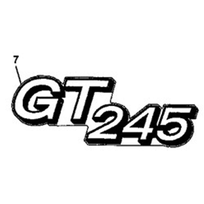 John Deere GT245 Model Number Decal - M146426