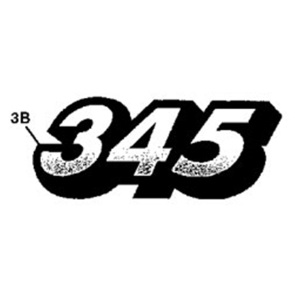 John Deere 345 Model Number Decal - M135983