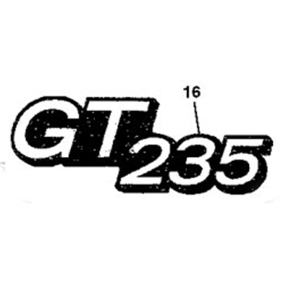 John Deere GT235 Model Number Decal - M146010