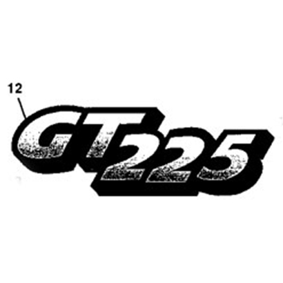 John Deere GT225 Model Number Decal - M126055