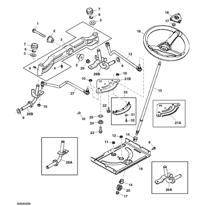 John Deere Sabre Mower Deck Parts Diagram besides John Deere 425 Fuel Pump Location as well S 64 John Deere D140 Parts furthermore P 13207 John Deere 54 La175 D170 Deck Parts Diagram besides Viewit. on john deere l118 lawn tractor engine