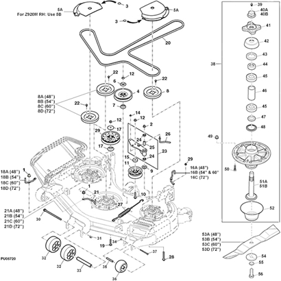 S 294 John Deere Z930m Parts on international 4300 wiring diagram