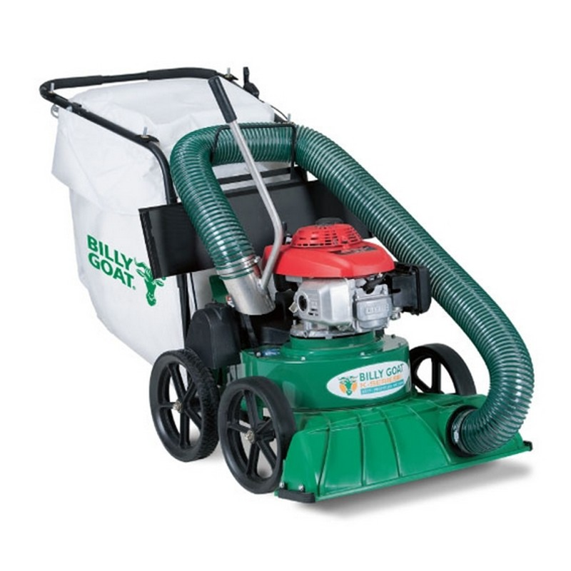 Self Propelled Walk Behind Leaf Blower: Billy Goat KV600SP Self-Propelled Lawn And Leaf Vacuum