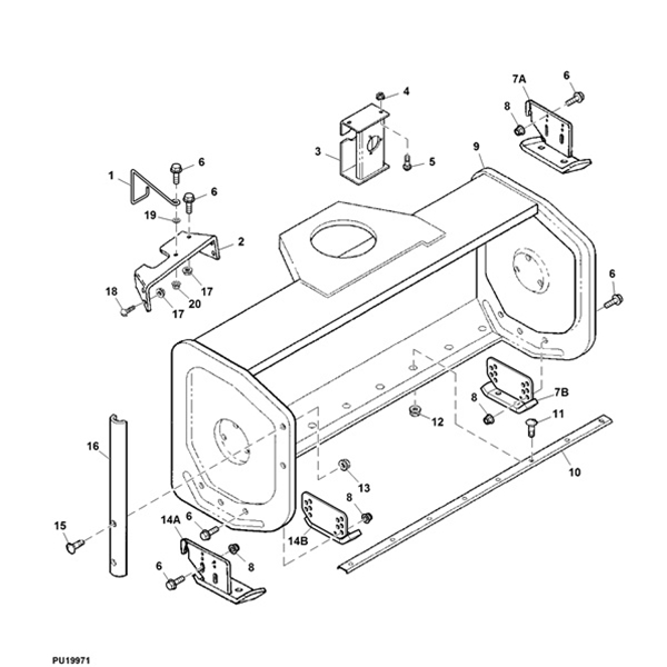 P 14597 John Deere Z997r 60 Mower Deck Parts Diagram moreover P 12104 John Deere 47 Blower Housing Diagram also Engine Group Electric Clutch 16hp 18hp Briggs Stratton Vanguard 986252 986413 additionally P 12183 John Deere 54 Blower Auger Diagram also P 13201 John Deere L120 L130 Deck Parts Diagram. on john deere lawn mowers brand
