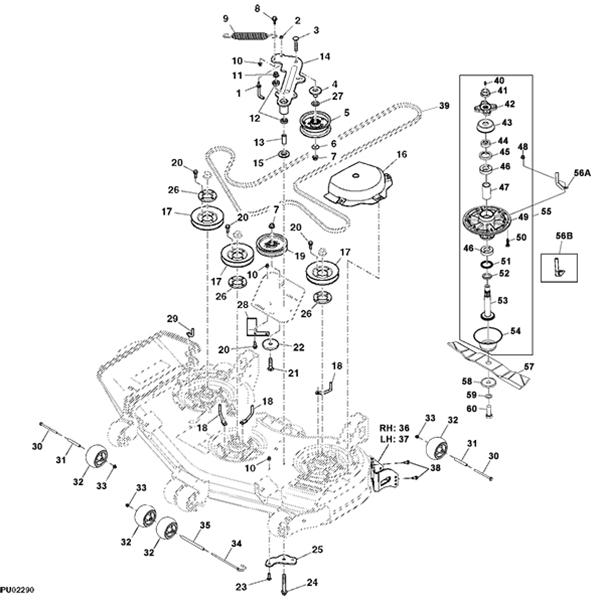 john deere z800a series professional ztrak 48 mower deck parts diagram 14586 john deere z810a z trak mower parts john deere m655 parts diagram at aneh.co