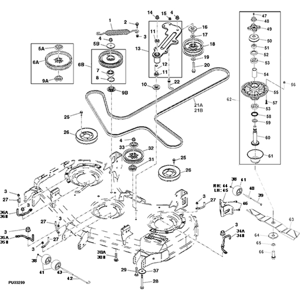 john deere z900a series commercial 60 mower deck parts diagram 14584 john deere z950a z trak mower parts john deere m655 parts diagram at mr168.co