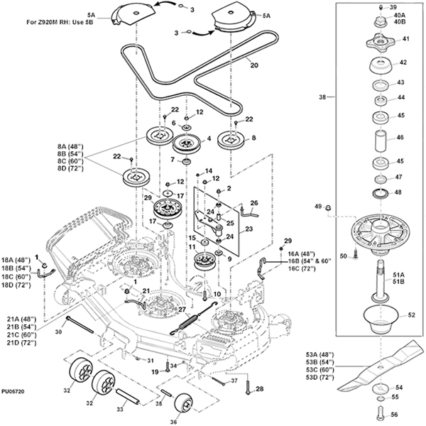 john deere z900m z900r series mower deck parts diagram 14591 john deere z930m z trak mower parts john deere m655 parts diagram at mr168.co